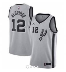Men Women Youth All Size Spurs Grey Jordan Brand Custom NBA Jersey-