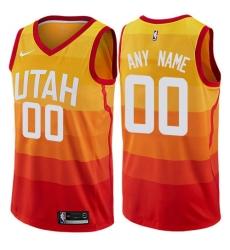Men Women Youth Toddler Nike Utah Jazz City Edition Orange Swingman Custom Jersey