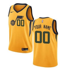 Men Women Youth Toddler Nike Utah Jazz Customized Statement Edition Swingman Gold Nike Jersey