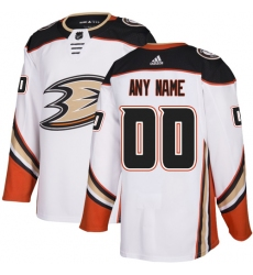 Men Women Youth Toddler Youth White Jersey - Customized Adidas Anaheim Ducks Away