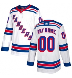 Men Women Youth Toddler Youth White Jersey - Customized Adidas New York Rangers Away