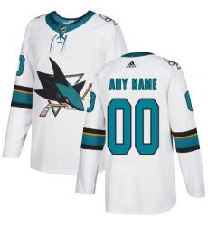 Men Women Youth Toddler Youth White Jersey - Customized Adidas San Jose Sharks Away