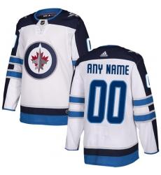 Men Women Youth Toddler Youth White Jersey - Customized Adidas Winnipeg Jets Away