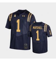Men Navy Midshipmen John Marshall College Football Navy Replica Jersey