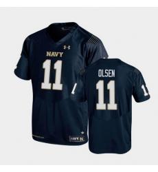 Men Navy Midshipmen Perry Olsen Replica Navy College Football Jersey