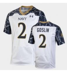 Men Navy Midshipmen Tyger Goslin Special Game White Football Jersey